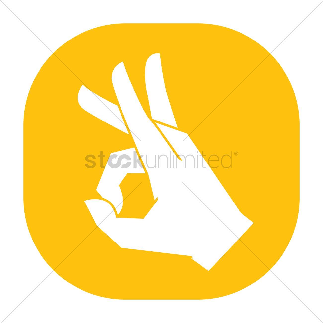 Flicking hand gesture Vector Image.