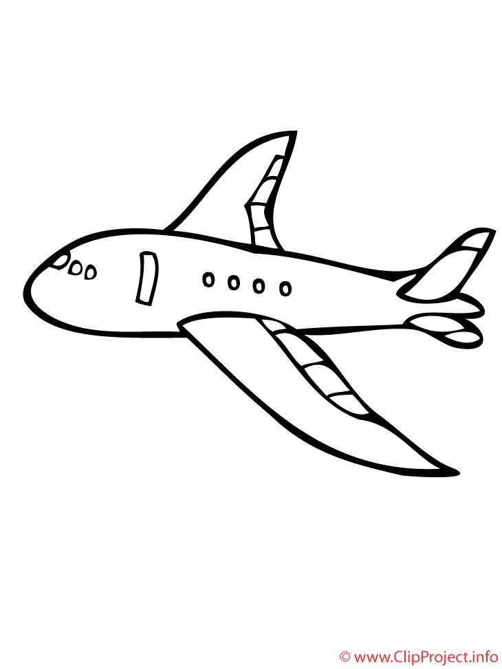 Flugzeug Ausmalbild kostenlos.