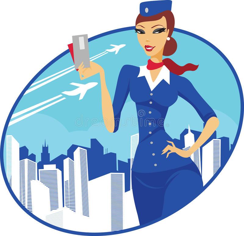 Flight Attendant Stock Illustrations.