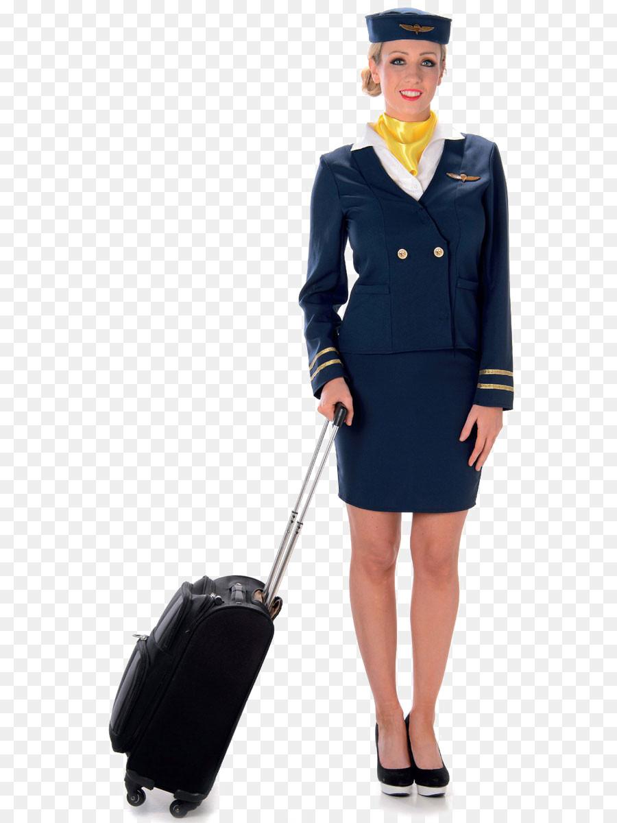 Flight Attendant Standing png download.