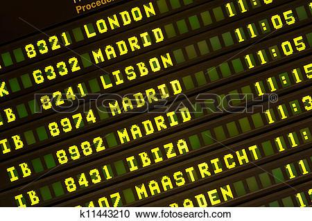 Stock Photography of Flight Board k11443210.