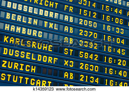 Stock Photo of departure.