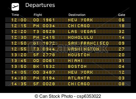Arrival departure board Clip Art and Stock Illustrations. 1,848.
