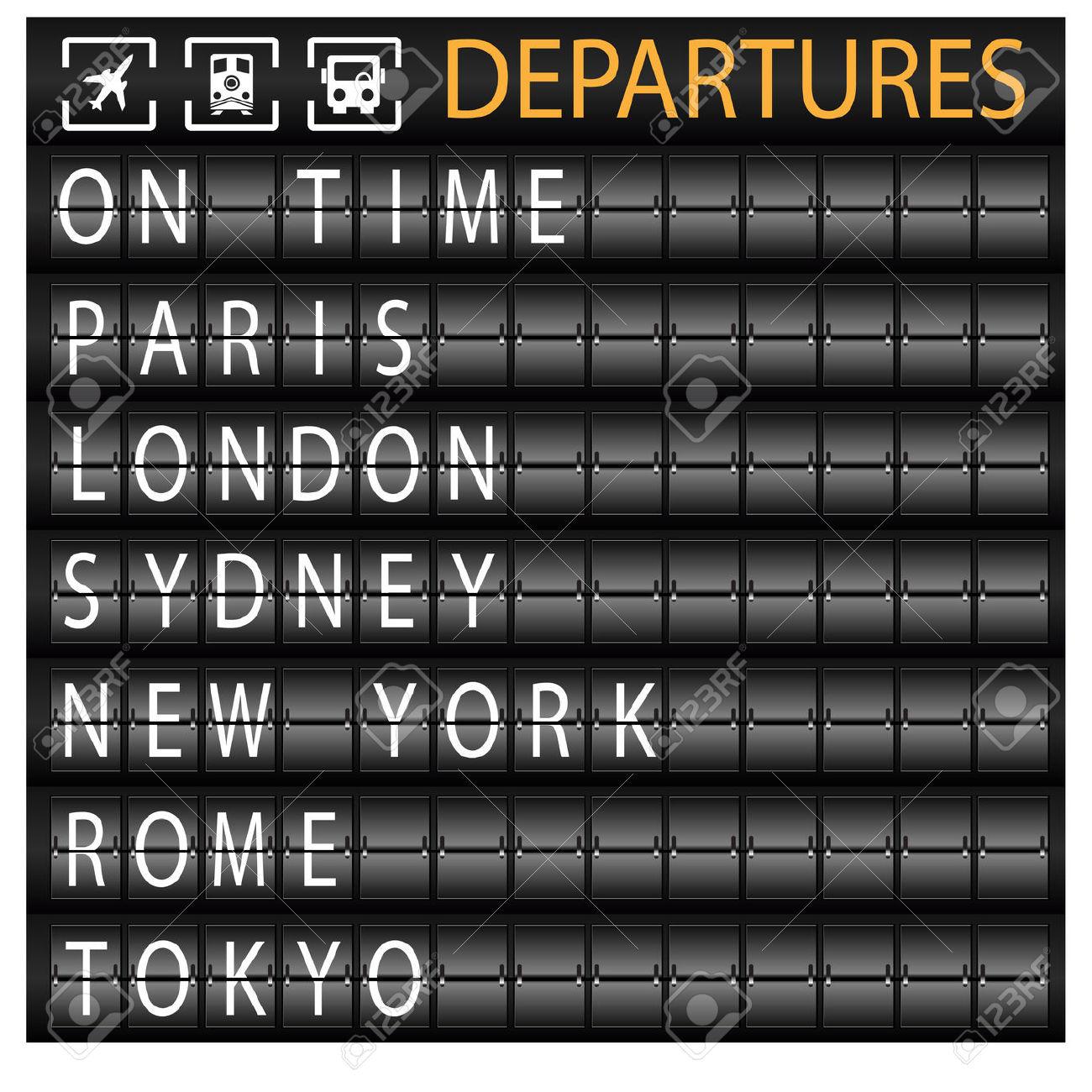 Departure Clipart.