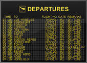 Clipart of Flight Cancelled k12541692.