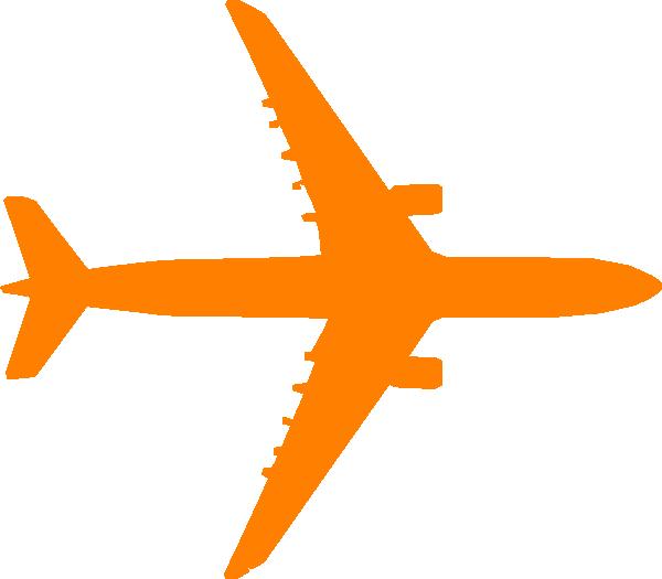 Orange Plane Clip Art at Clker.com.
