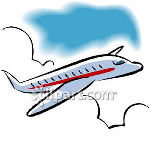 Flying plane clipart.
