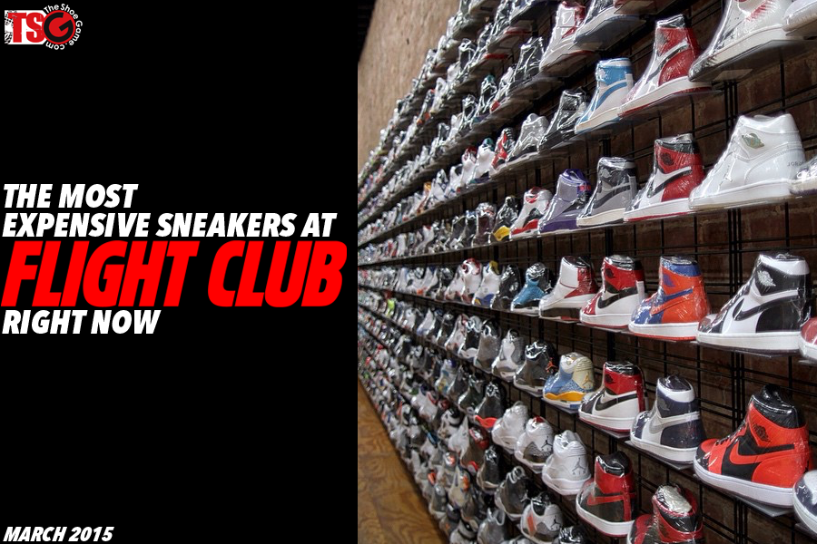 The 10 Most Expensive Sneakers On Flight Club Right Now.