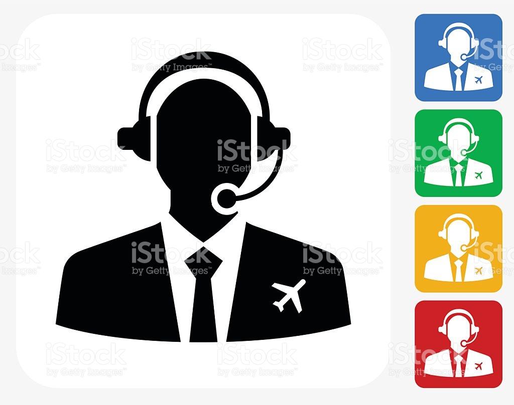 Flight Control Icon Flat Graphic Design stock vector art 492252496.