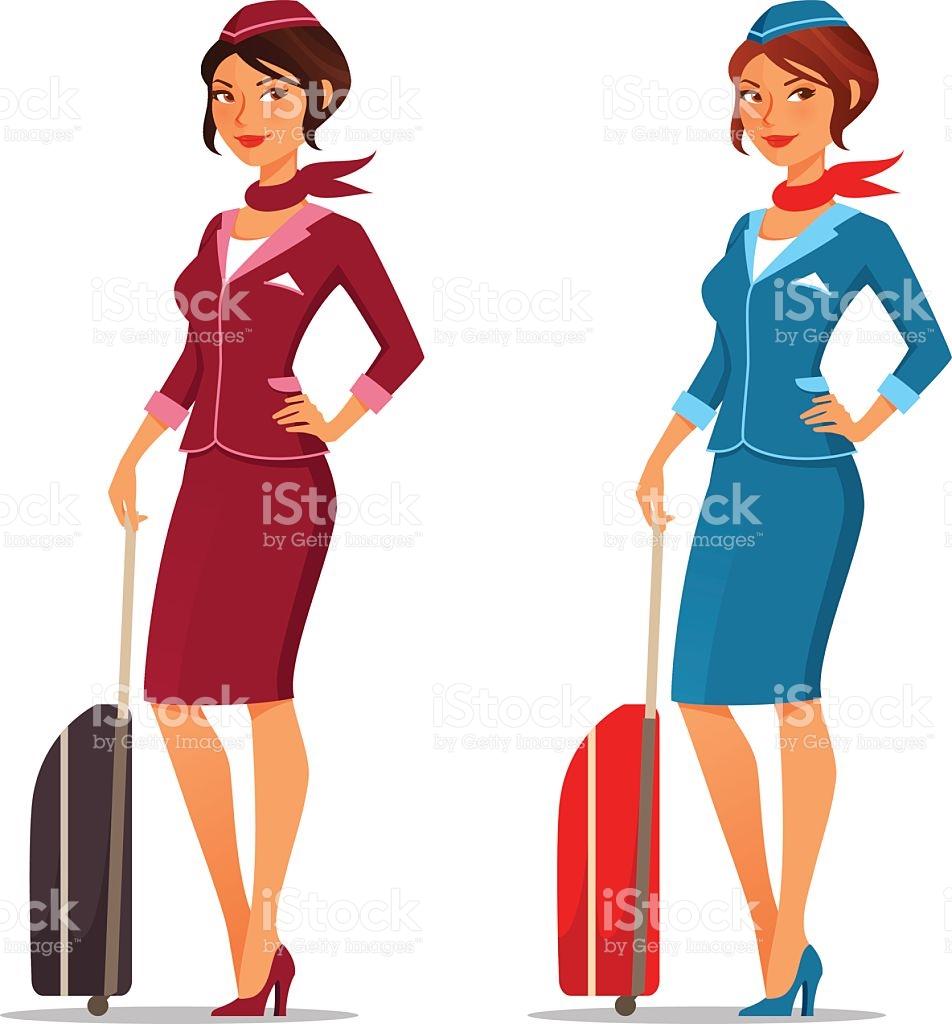 Stewardess Clip Art, Vector Images & Illustrations.