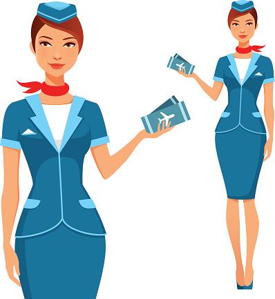 Flight Attendant Clip Art, Vector Images & Illustrations.