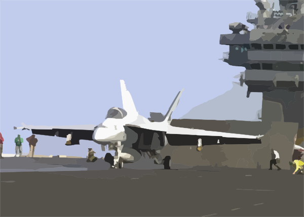 Super Hornet Prepares For Launch From The Flight Deck Of Uss.