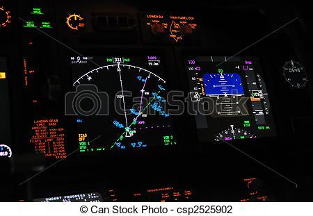 Stock Photo of Flight deck, cockpit.