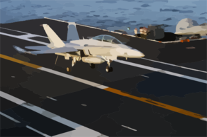 An F/a 18 Hornet Lands On The Flight Deck Clip Art at Clker.com.