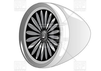 Jet engine Vector Image #104618.