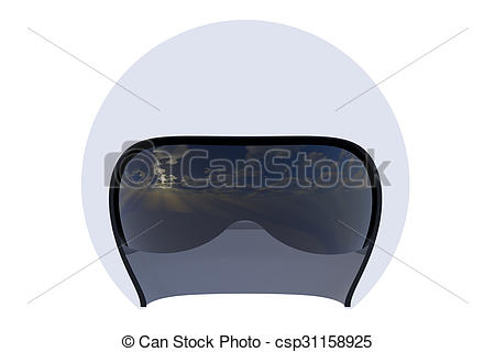 Clip Art of Flight helmet close.