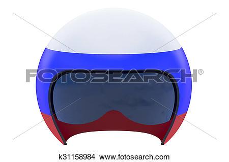 Drawings of Russian Flight Helmet k31158984.
