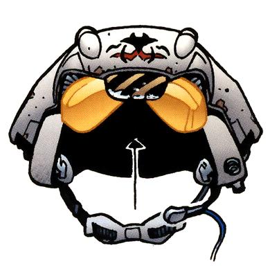 Flight helmet.
