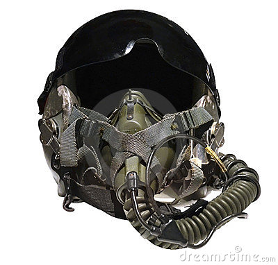 Military Flight Fighter Pilot Helmet. Vector Stock Vector.