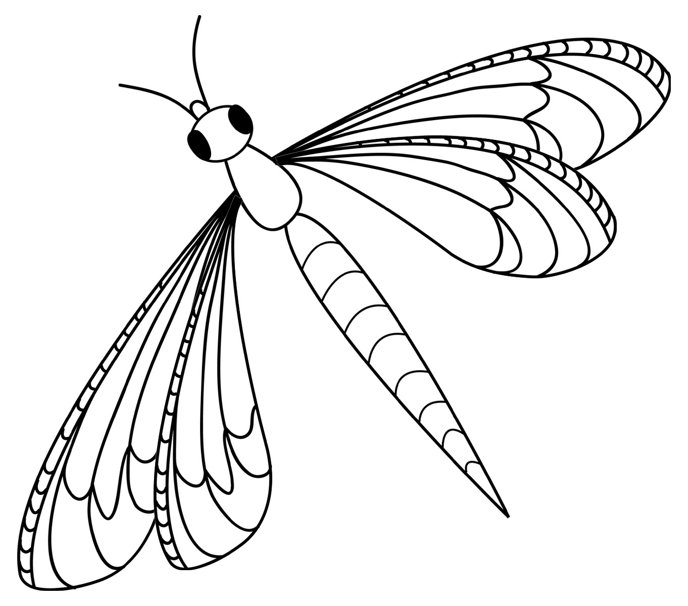 Dragonfly Outline Clipart.