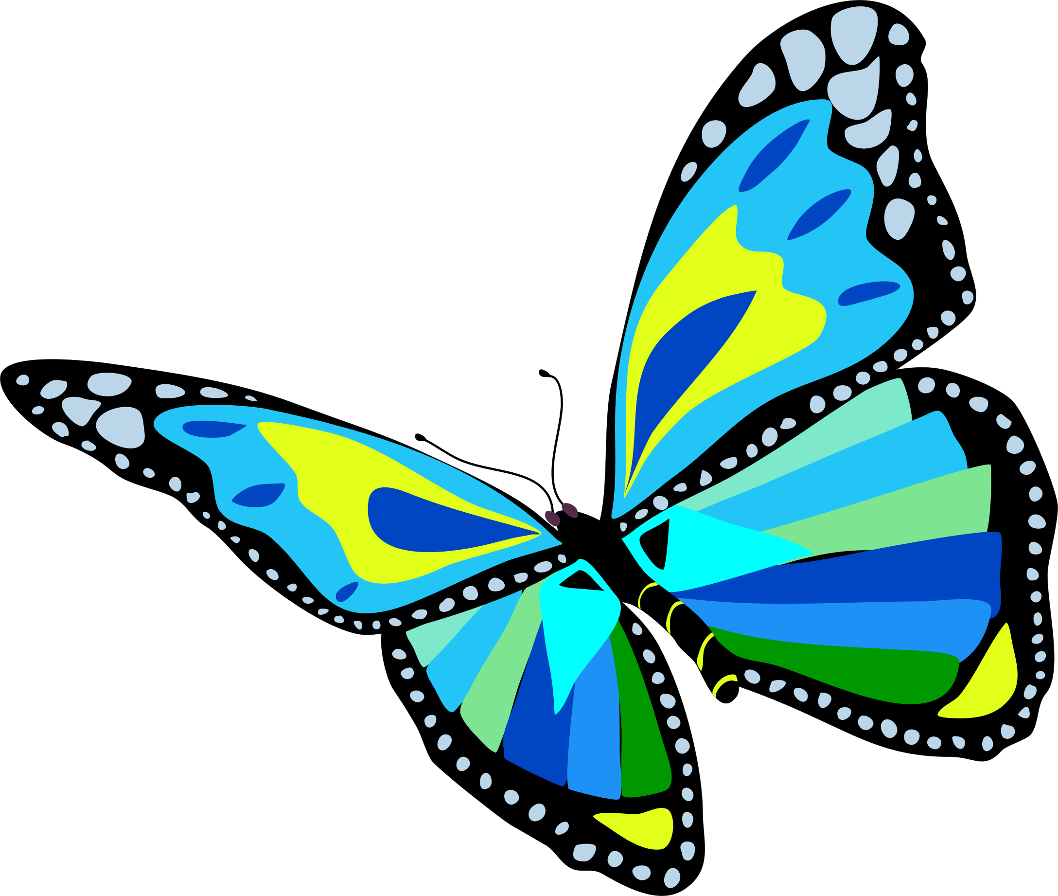 Flying butterfly clipart.