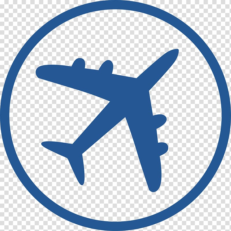 Airplane logo, Flight attendant Air travel Airplane Aviation.