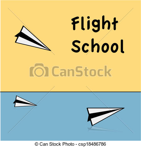 Vector of Flight school.