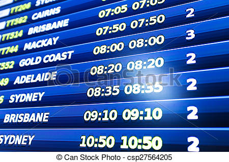 Stock Photography of flight information display screen board.