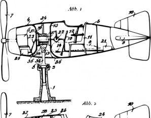 Silhouette Plane clip art.