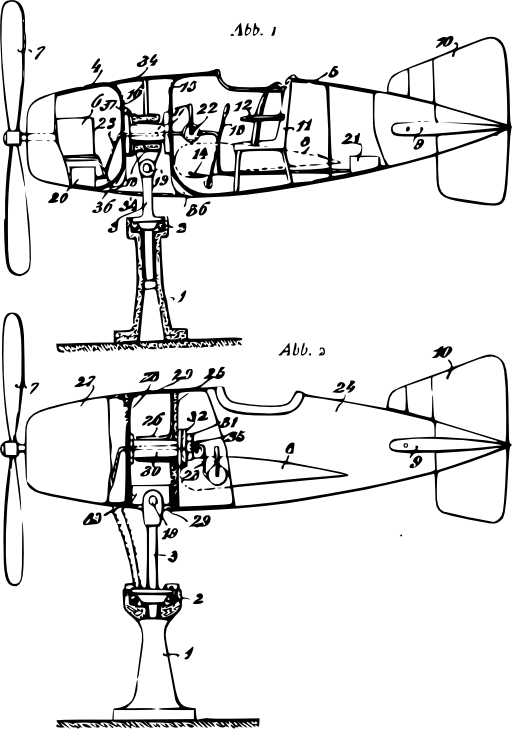 Flight Simulator Plan Clipart.