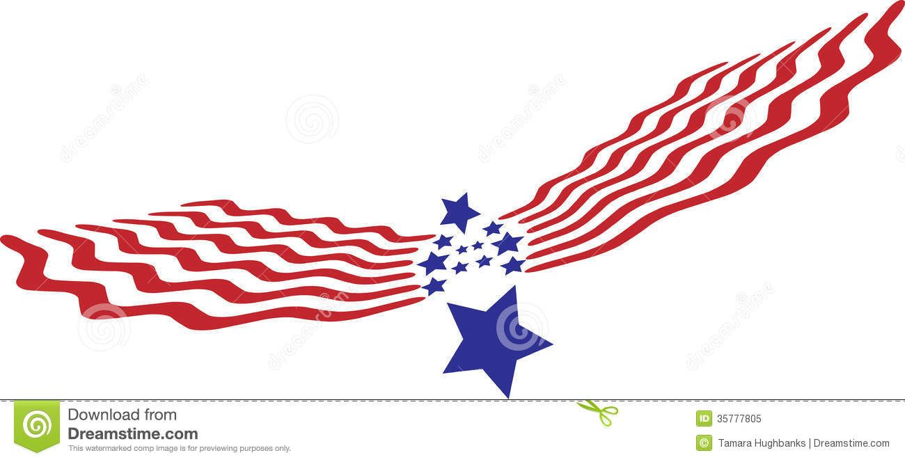 Abstract Eagle Stars And Stripes Royalty Free Stock Photo.