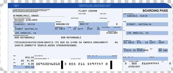Flight Airplane Airline ticket Boarding pass Template.