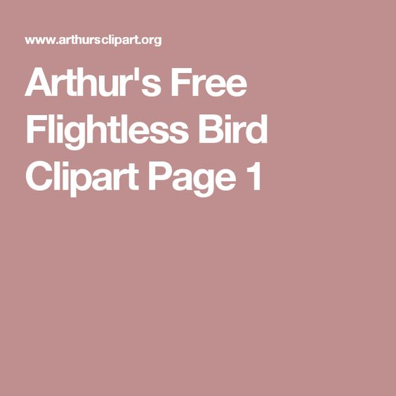Arthur's Free Flightless Bird Clipart Page 1.