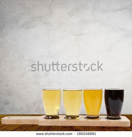 Beer Flights Clipart.