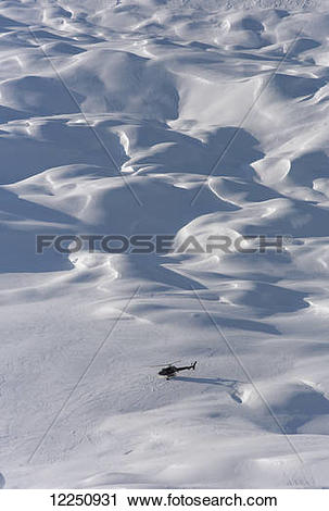 "Stock Photography of ""Helicopter flightseeing tour on a glacier."