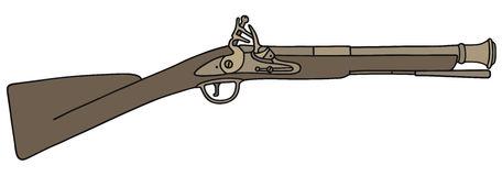 Flintlock rifle clipart.