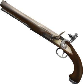 Flintlock Pistol clip art.
