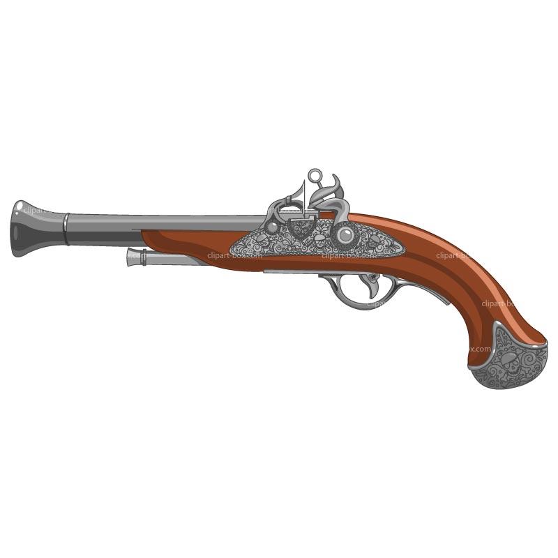 Pirate gun clip art.