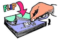 Flip book clipart.