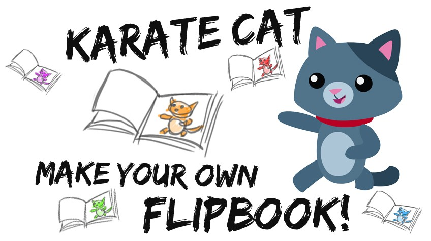 Karate cat flip book.