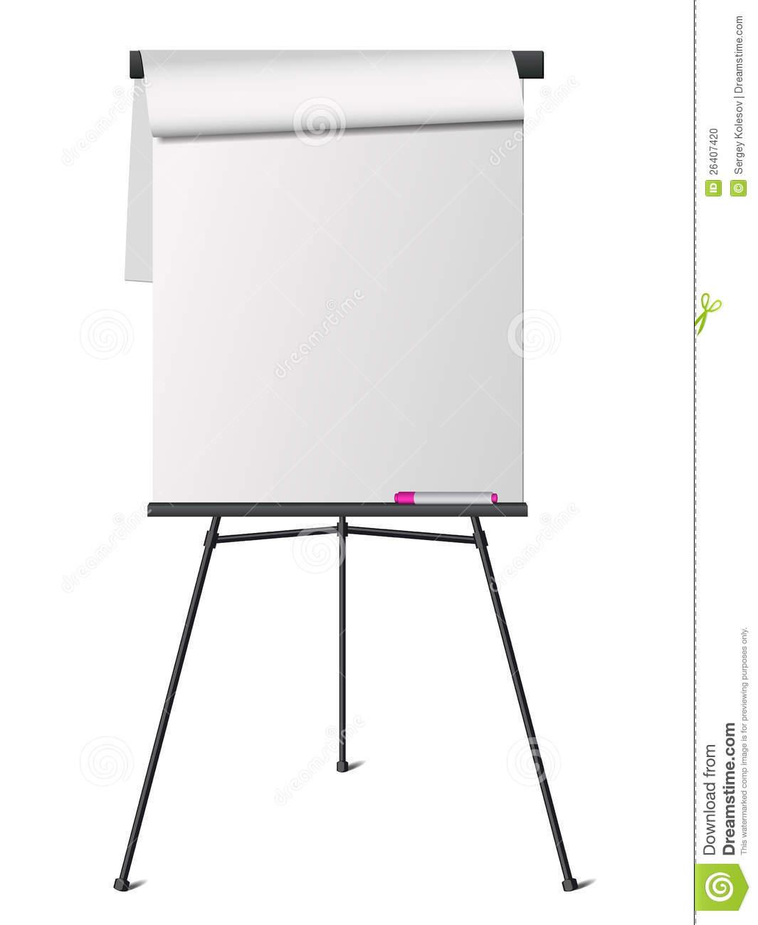 Flip chart stock vector. Illustration of presentation.