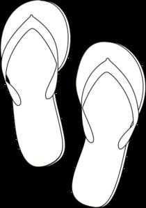 Flip Flops Outline clip art.