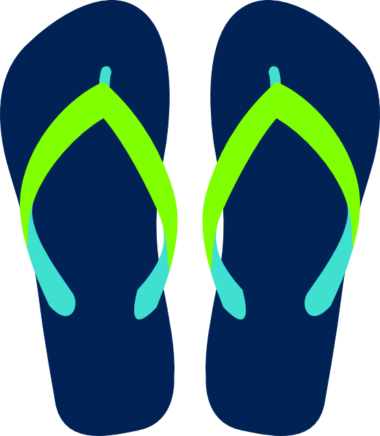 Flip Flops Clipart Black And White.