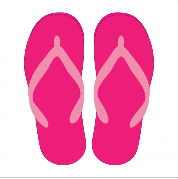 Simple Flip Flop Clipart.