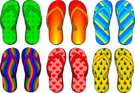 Free to Use & Public Domain Sandals Clip Art.