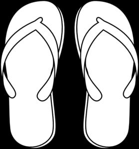 Flip Flops Clipart Black And White.