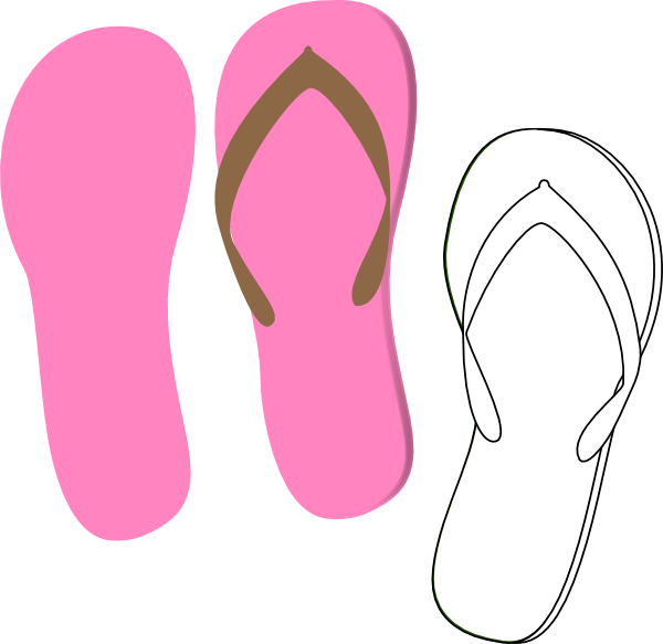 Flip flops clip art black and white danaspaf top 2.