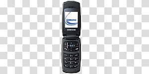 Mobile phones icons , HH, black Nokia flip phone transparent.