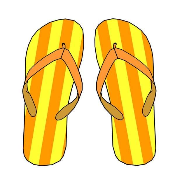 Hawaiian flip flop clipart.