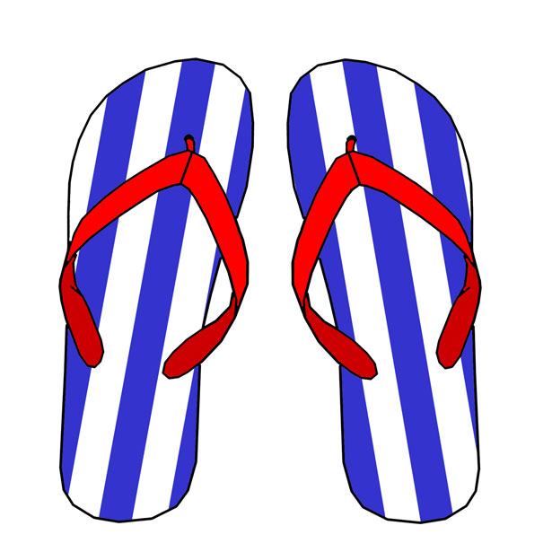 Silly Flip Flop Clipart.